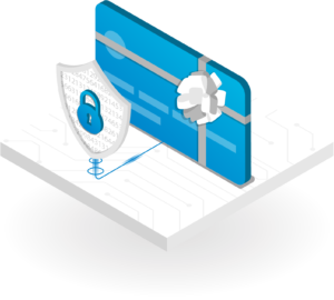 Secure Customer Gift cards Illustration