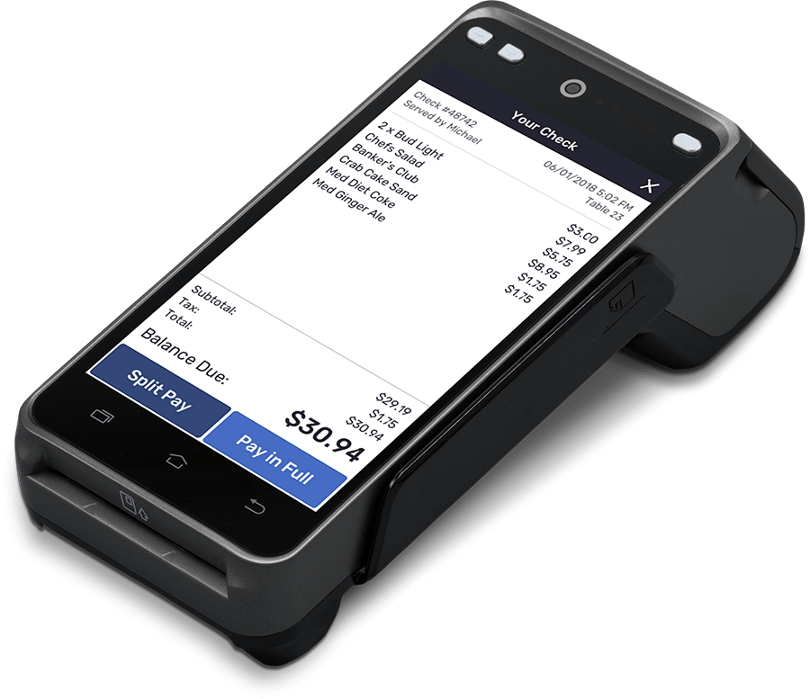 Mobile POS Terminal - services for restaurants and bars